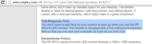 staples lcd monitor specification meaning ignorance